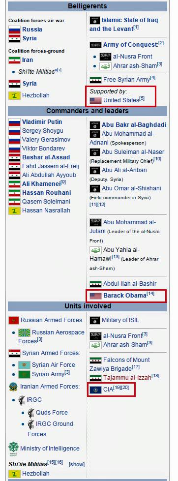 Wikipedia list the leaders of the two warring sides