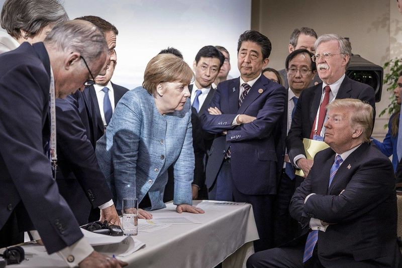 File:Trump Merkel at G7 2018.jpg