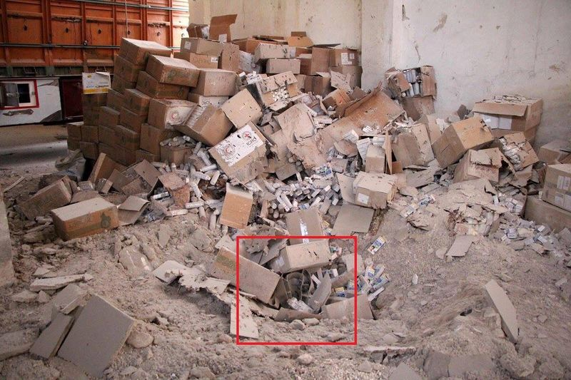File:OFAB-250 bomb in Urm al-Kubra warehouse.jpg