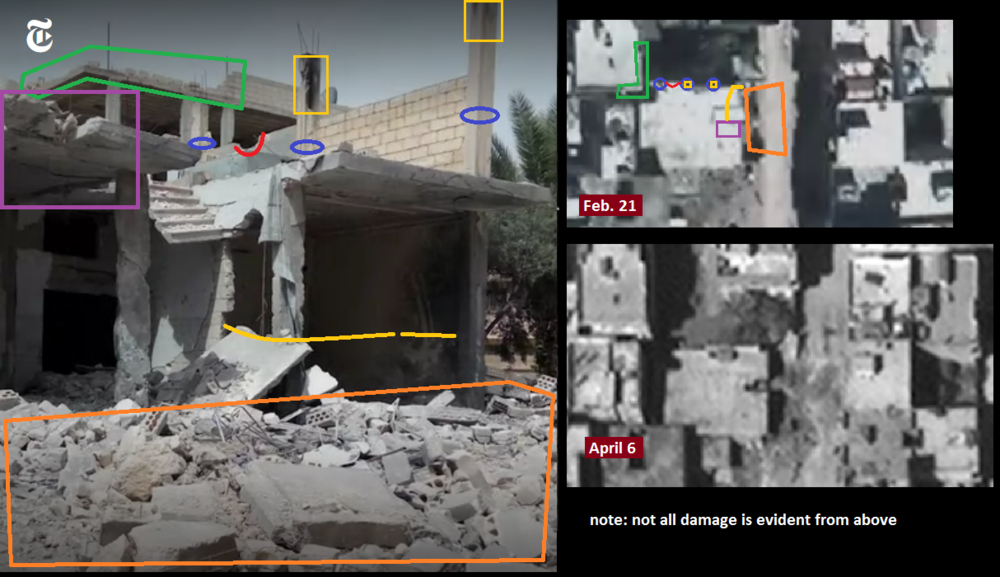 CW Khan Sheikhoun 2017 damage plume 3B labeled.png