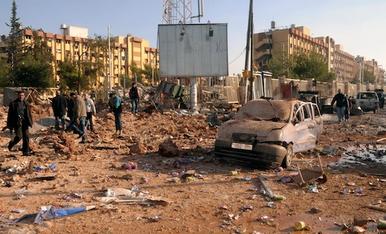 Aleppo Univ damage roundabout 10.png