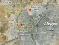 Aleppo Univ map Lairamoun Banizaid.png