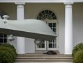 Desperately missing Obama a drone places fresh kill on steps of White House in attempt to lure its master back.jpg