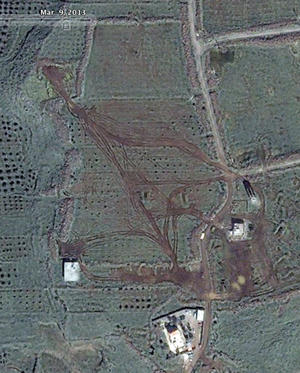 Houla Artillery Tracks March 2013.png