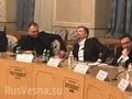 Borodai Surkov council of Donbass volunteers commanders.png