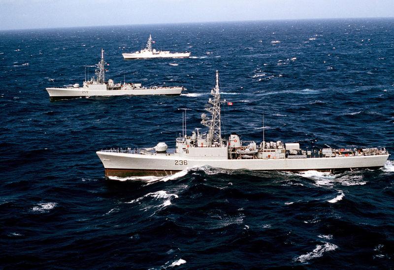 File:Restigouche-class DDEs off Alaska 1983.jpg