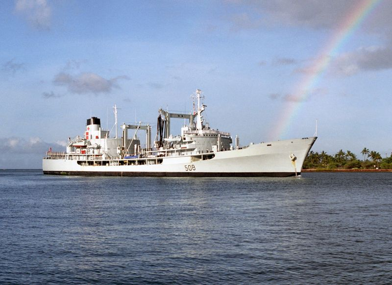 File:HMCS Provider (AOR 508) at Pearl Harbor 1986.jpg