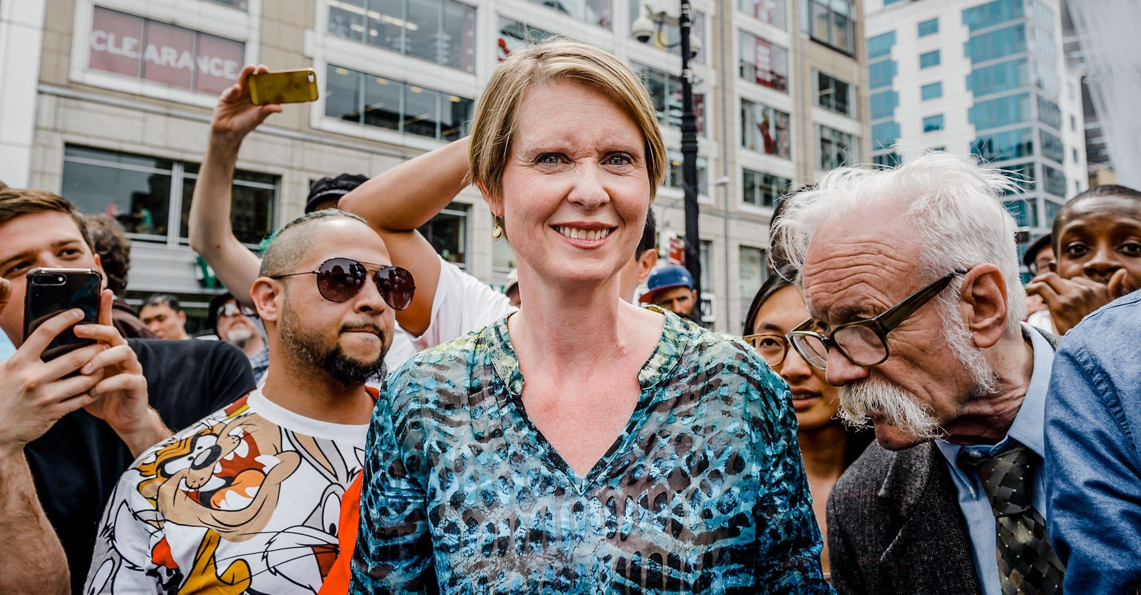 File:New York City 2018 May 5. Cynthia Nixon and Dana Beal.jpg