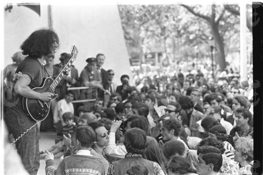 New York City 1967 Jerry Garcia playing in Tompkins Square Park.jpg
