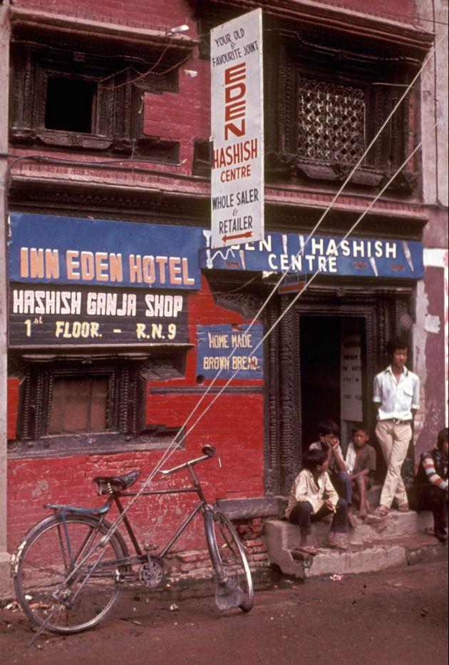 Kathmandu hashish shop 1973 Nepal.jpg