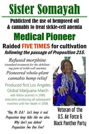 Los Angeles Global Marijuana March. Sister Somayah.jpg
