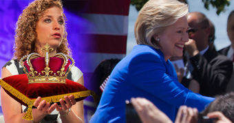 Debbie Wasserman crowns Queen Hillary.jpg