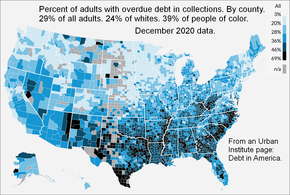 USA. Percent of adults with overdue debt in collections. By county.png