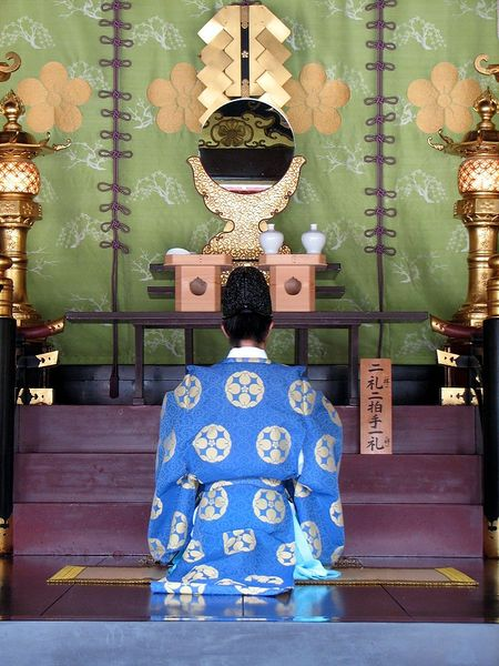 File:Priest at Dazaifu Tenmagu shrine 1.JPG