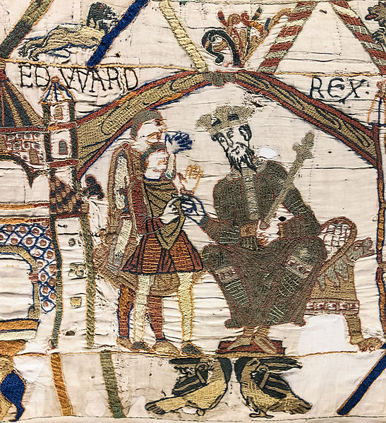 File:Bayeux Tapestry scene1 EDWARD REX.jpg