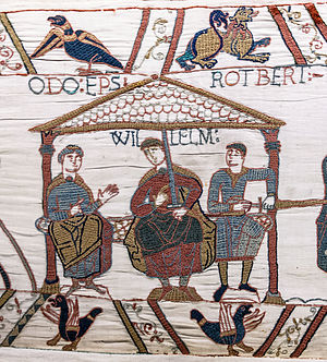 File:Bayeux Tapestry scene44 William Odo Robert.jpg