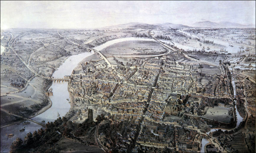 View of Chester from a Balloon