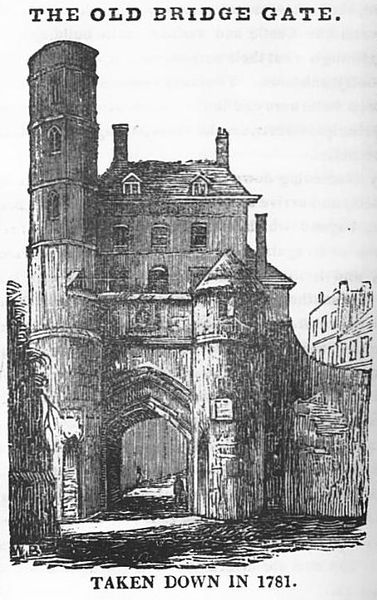 File:Bridgegate from The Stranger's Companion in Chester.jpg