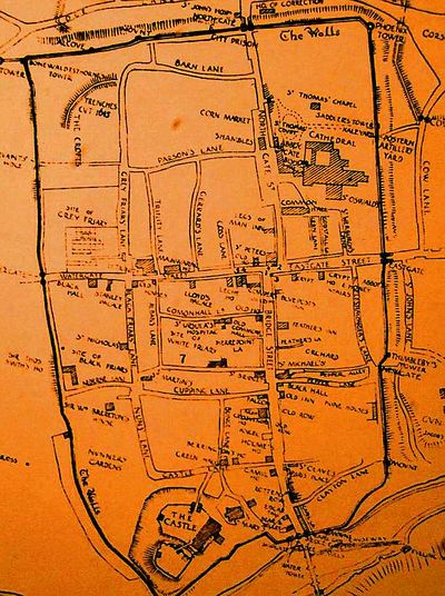 Old map of Chester