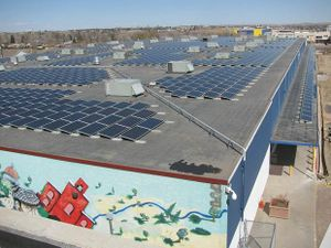 as an example for a crowdfunded solar roof.