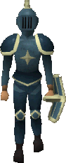 A player wearing Saradomin armour.