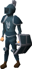 A player wearing Armadyl armour.