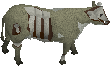 Undead cow (before)