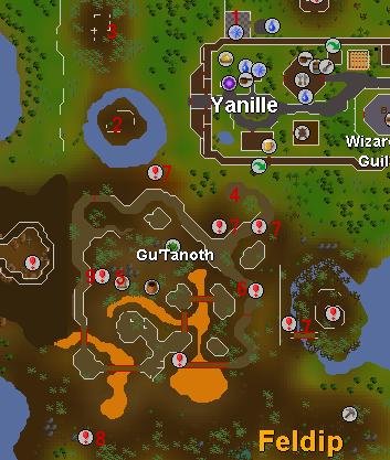 Watchtower tehtävän kartta