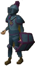 A player wearing Ancient armour.