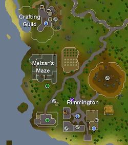 Rimmingtonin kartta.