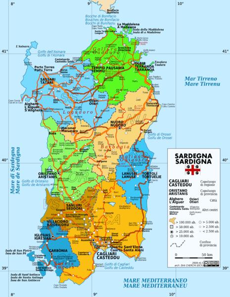 Fichier:Sardaigne - carte.png