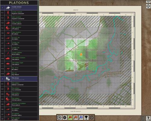 Selected battle area