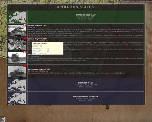 Operation selection