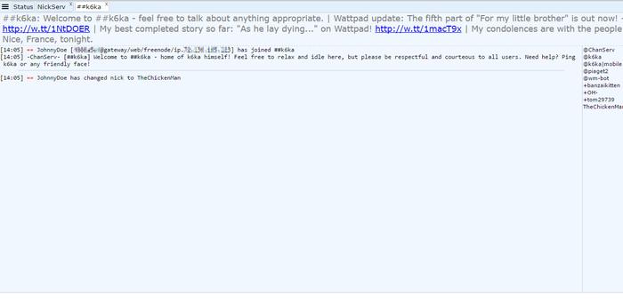 IRC handbook/Getting started - K6ka's Wiki on ShoutWiki