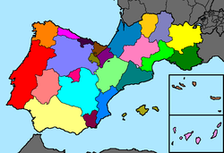 Map of the Provinces and Territories of Iberia