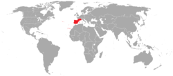 Locator map for Iberia