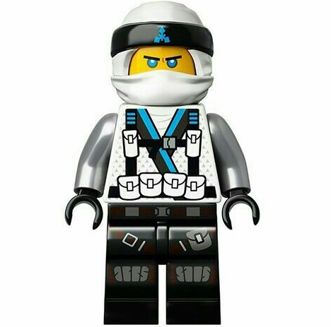 The LEGO Ninjago Movie Minifigure 70617 In Ninja Suit w// Hair /& Quiver Zane
