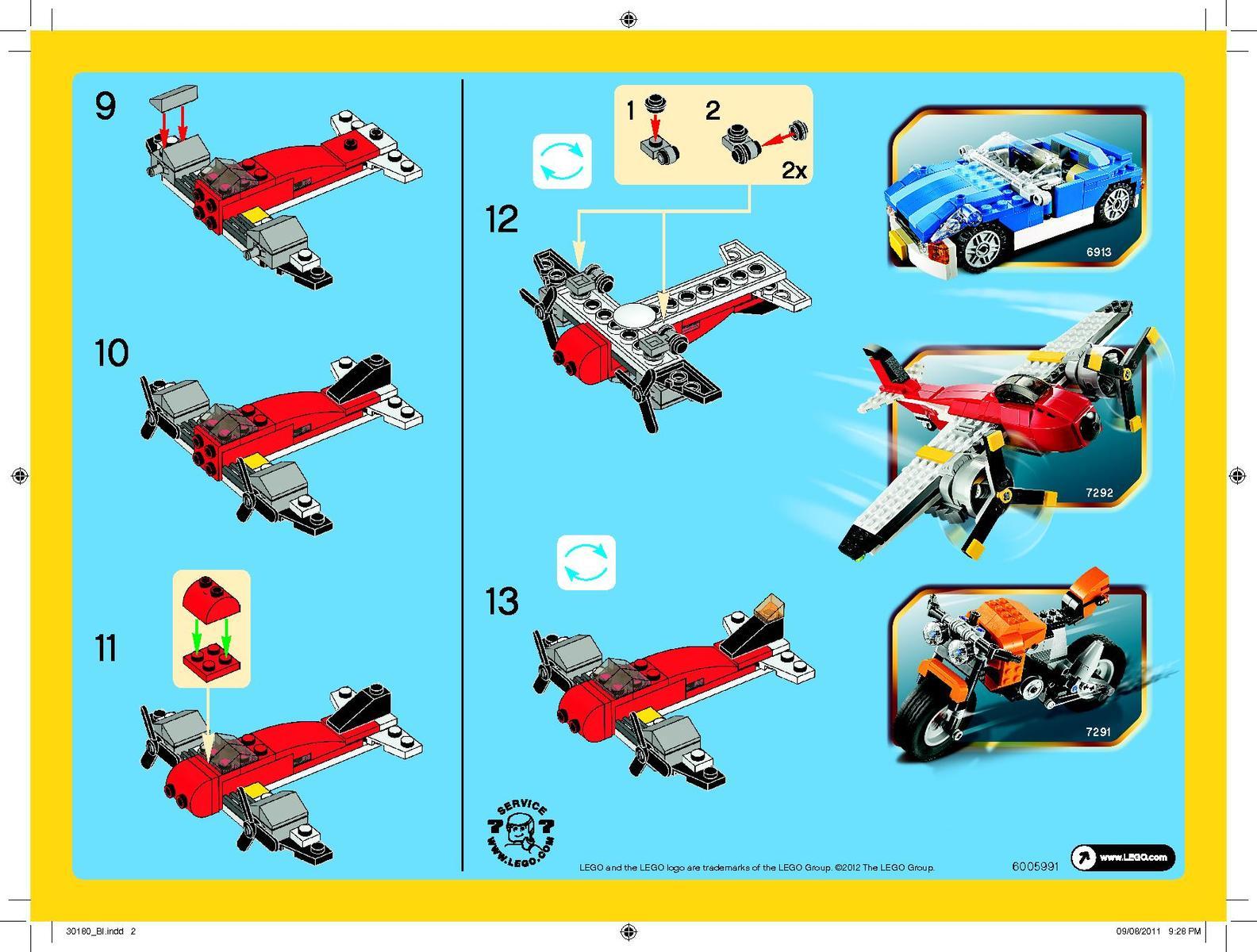 Как сделать из лего самолёт инструкция картинки схема