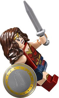 wonder womans angry face in her batman v superman variation - Lego Wonder Woman