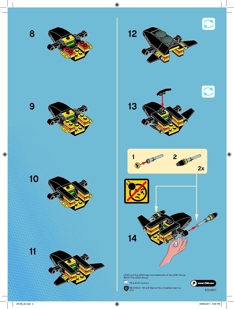 Схема сборки лего бэтмен