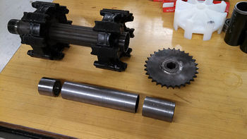 Front axle parts, excluding the inner shaft.
