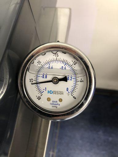 Pressure gauge inHg