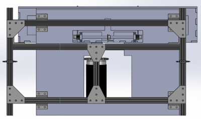 Shuttle with center mounted extractor