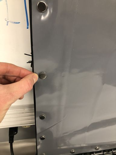 Magnetic system to lock and secure air