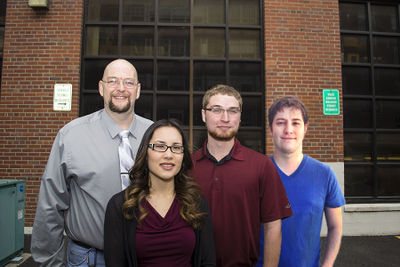 Team Picture taken in Spring 2015. David, Emeth, Taylor, Joe