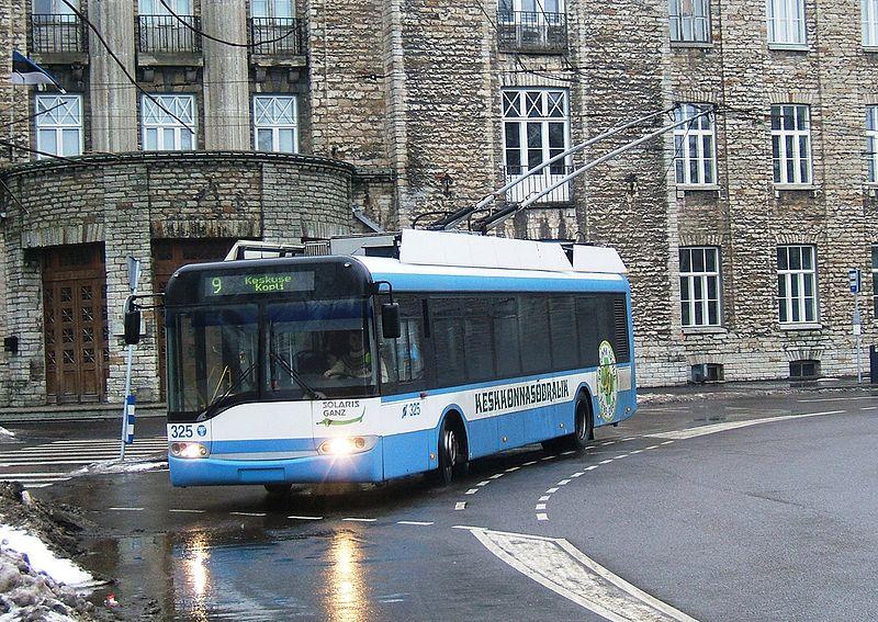 Файл:Троллейбус Таллина маршрут 9.jpg