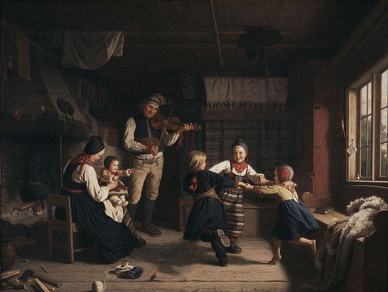Файл:Söndagsafton i en dalastuga av Amalia Lindegren 1860.jpg