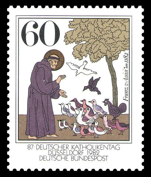 Archivo:DBP 1982 1149 Franz von Assisi.jpg