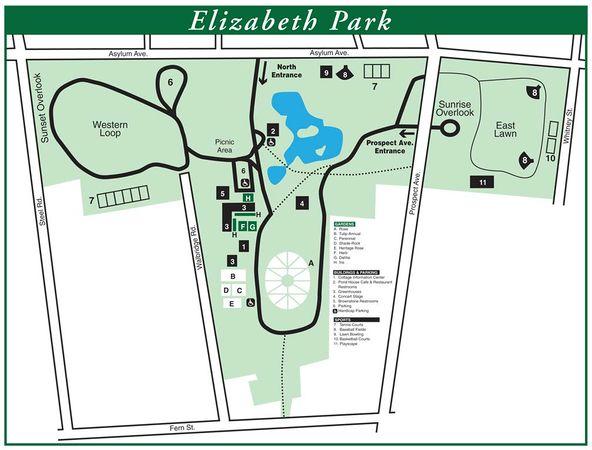 Elizabeth Park, Hartford, CT, Map.jpg