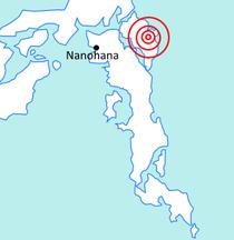 1953 Shinko Earthquake Location.png